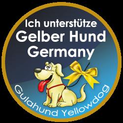 Gelber Hund braucht Freiraum