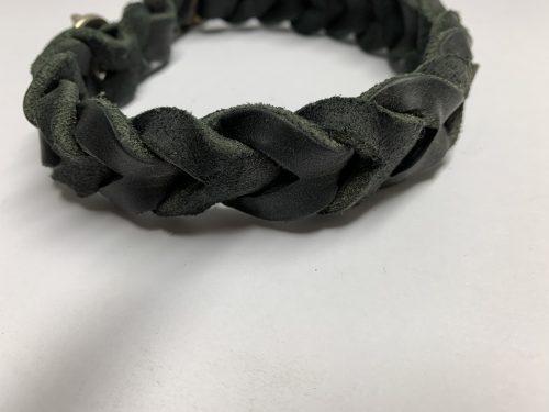 Fettlederhalsband schwarz