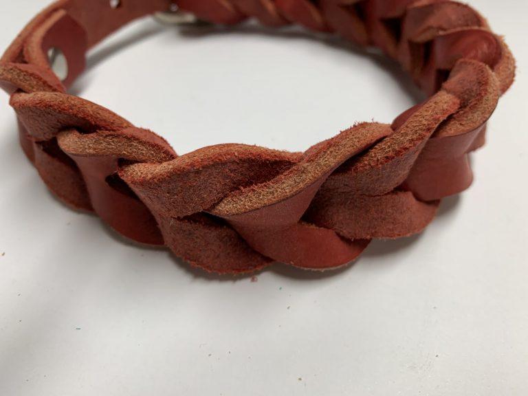 Fettlederhalsband rot