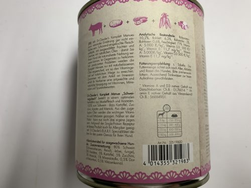 Dr.Clauder's B.A.R.F Spezialitäten Schweinegulasch